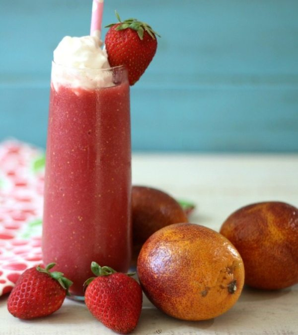 Blood Orange and Strawberry Daiquirie