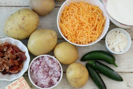 Cheesy Jalapeno and Bacon Potato Au Gratin Ingredients #SundaySupper