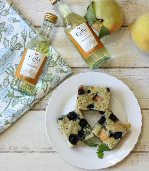 Blueberry Peach Snack Cake #SUndaySupper