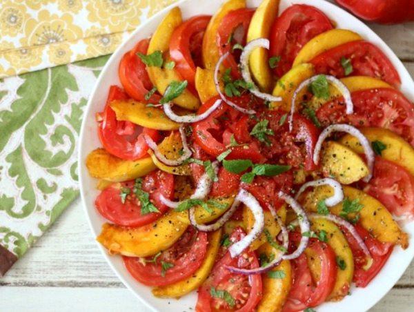 Peachy Tomato Salad