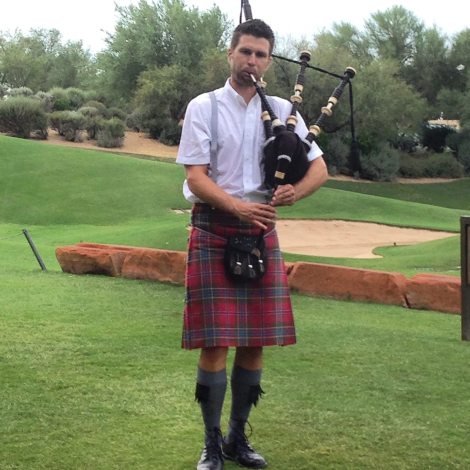 Bagpipes at Sunset at the Westin