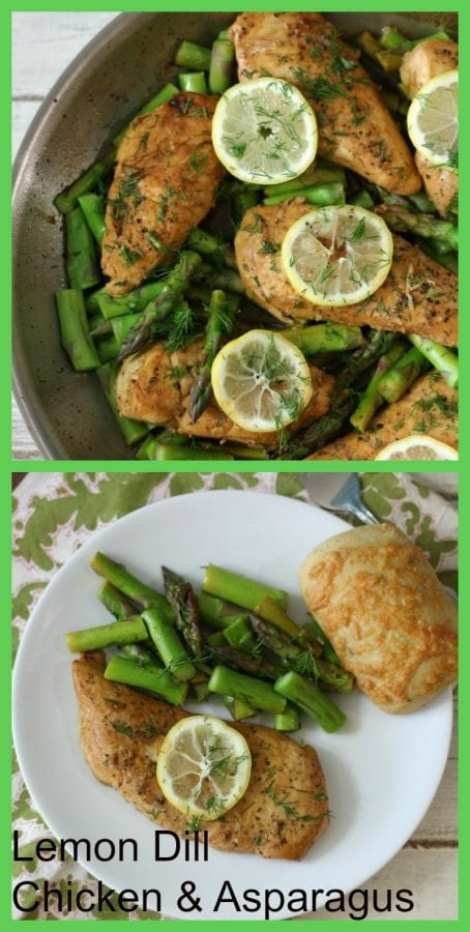 Lemon Dill Chicken and Asparagus f
