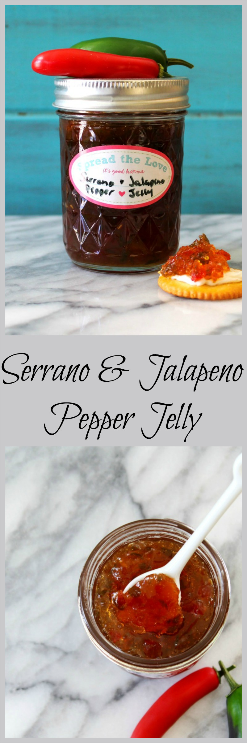 Serrano & Jalapeno Pepper Jelly