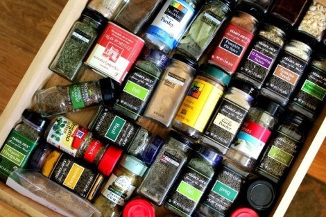 Spice Drawer Organization