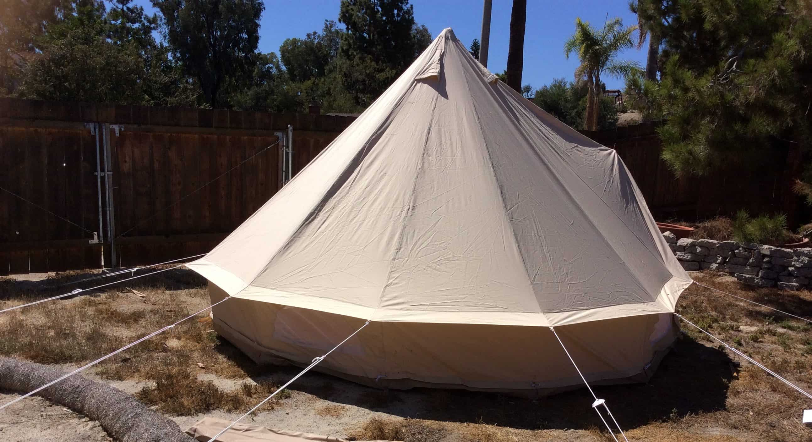 This tent is amazing!! First my son had this tent up in less than 15 minutes. DONE. UP and usable in 15 minutes. With never having put up a tent ... & Dream House Glamping Tent Review!! -