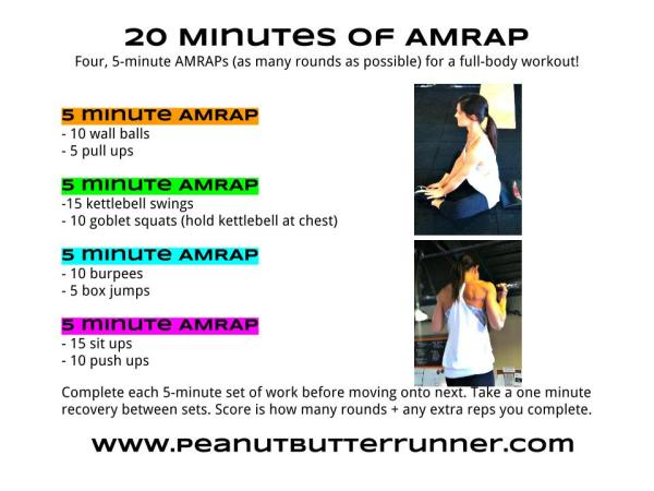 4 5 minute AMRAP Workout