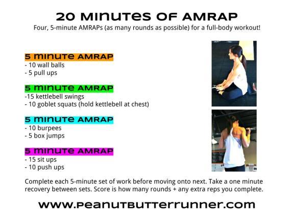 4 5 minute AMRAP Workout