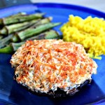 Crab Cake Stuffed Portobello Mushrooms