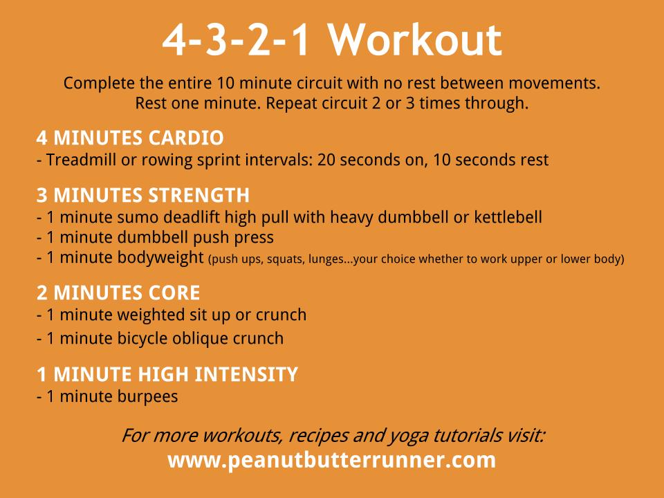 Simple Dumbbell Strength Circuit Peanut Butter Runner