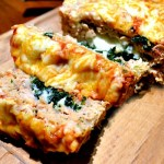 Spinach and Mozzarella Stuffed Chicken Meatloaf