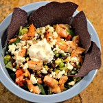 Southwestern Shrimp Taco Salad {Recipe}