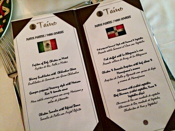 Majestic Colonial Resort Taino Menu