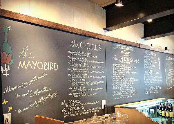 mayobird menu board