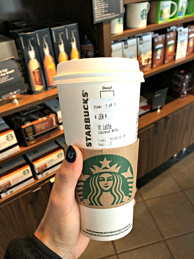 Coconut Milk Latte Starbucks