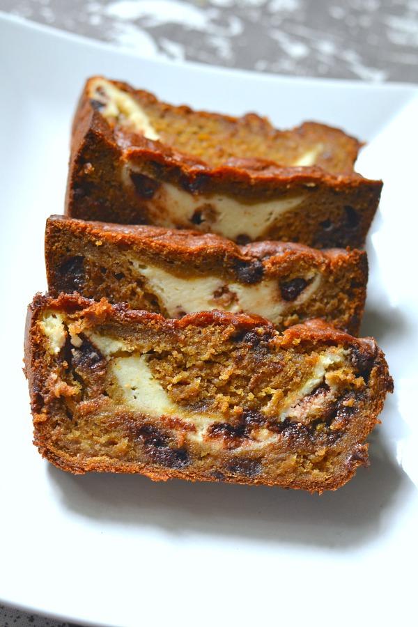 Pumpkin Cream Cheese Banana Bread