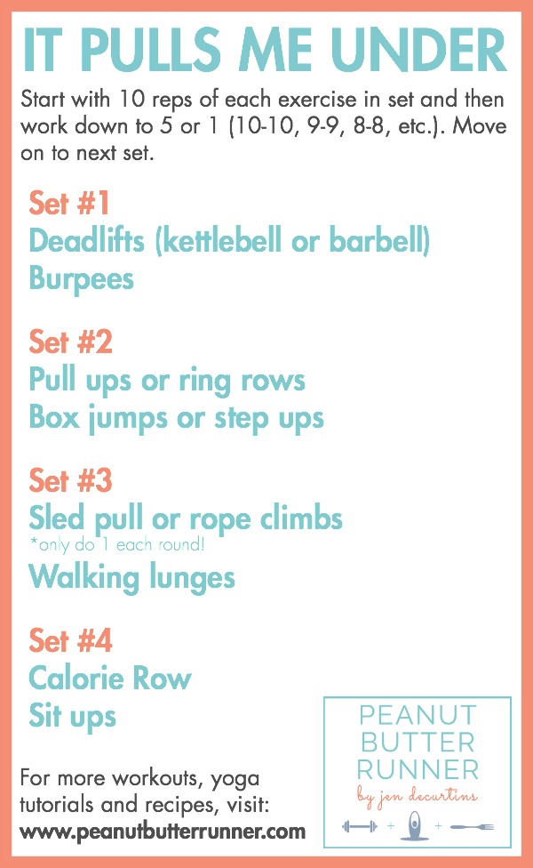 A ladder workout featuring pulling movements for a great upper and lower body challenge.
