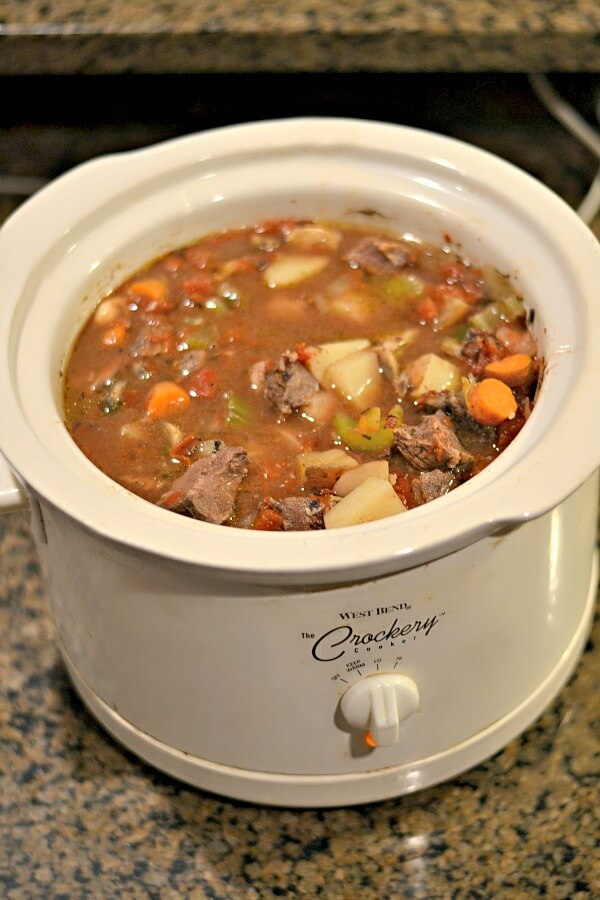 Whole30 compliant crockpot beef stew.