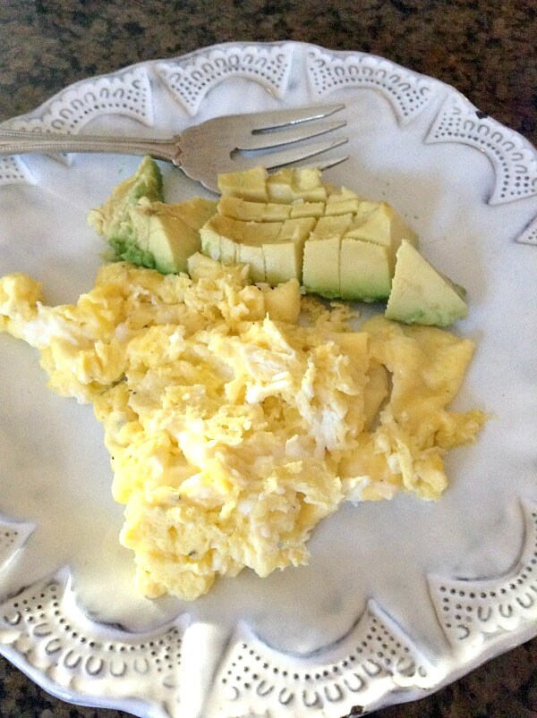 Whole30 Scrambled Eggs and Avocado