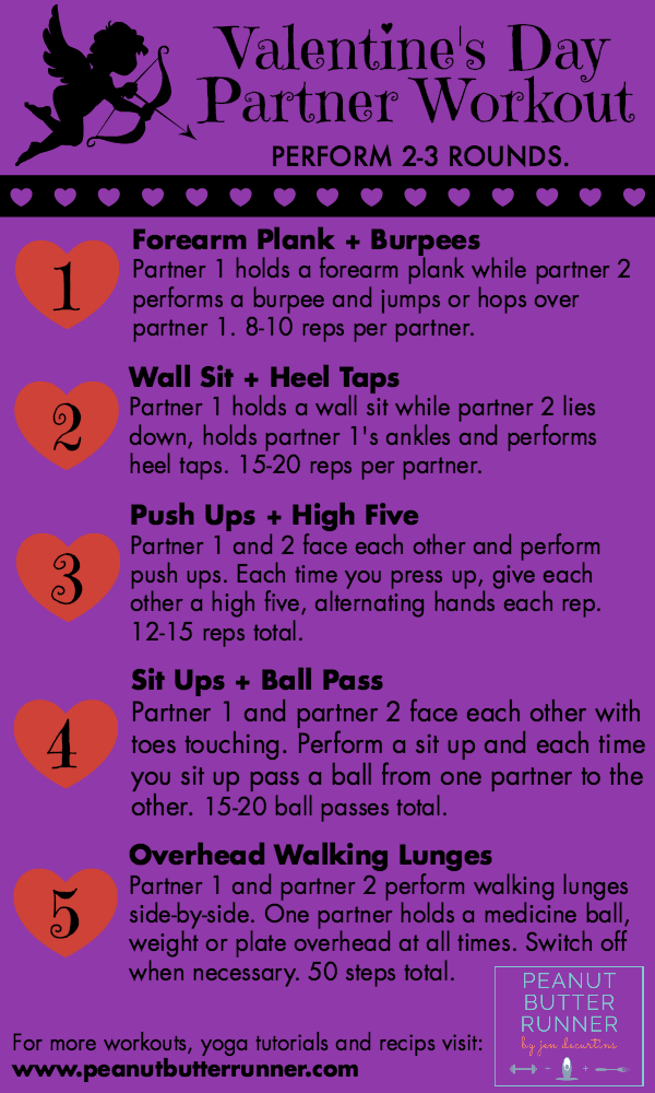 An interactive, fun and hands on Valentine's Day partner workout.