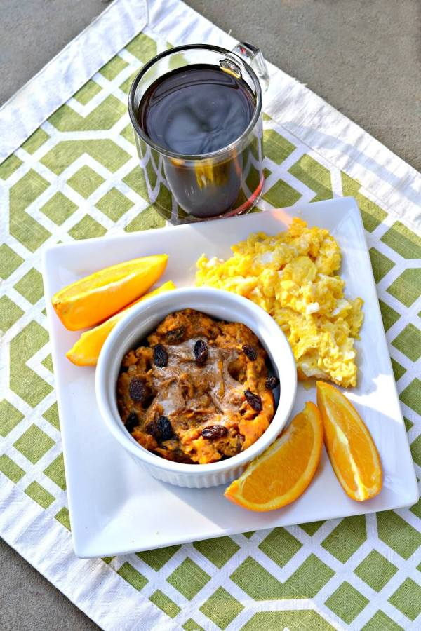 Sweet Potato Breakfast Bowls with scrambled eggs. Paleo and Whole30 approved.