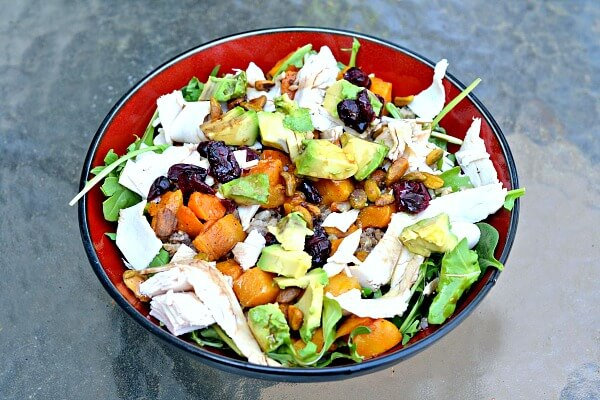 Healthy gluten-free grain salad.