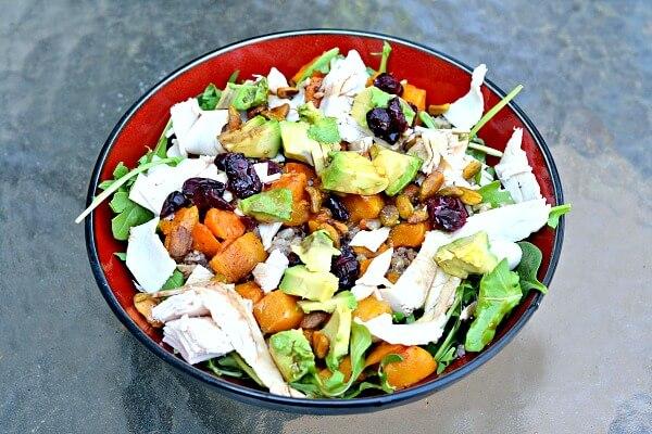 Healthy gluten-free grain salad.