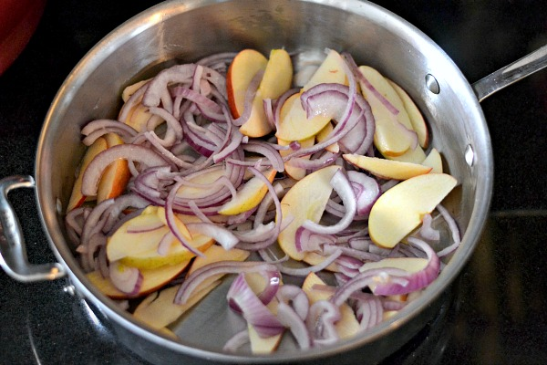 Satueed apples and onions.