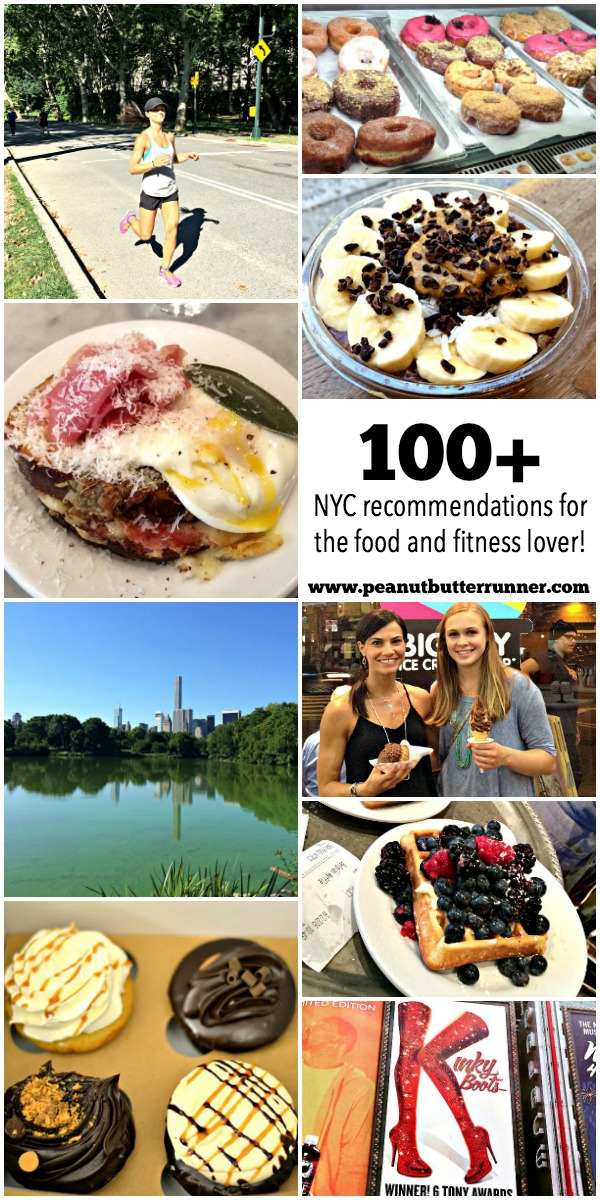 The Ultimate Girl's Guide to a Fitness and Foodie NYC Weekend. Over 100 recommendations for where to eat, sweet treats, workouts, sights to see and more!