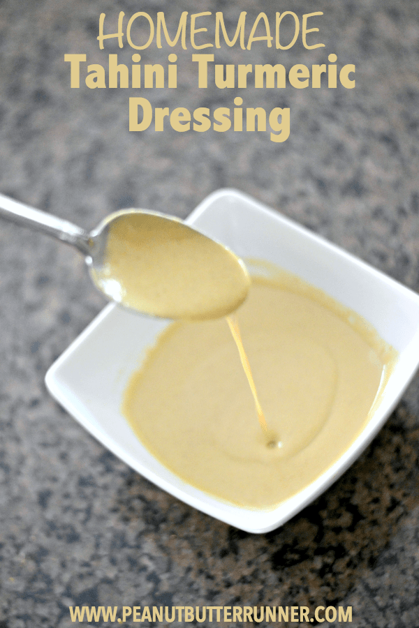 This homemade tahini turmeric dressing is a delicious way to break away from bottled dressings when you're making salads at home.