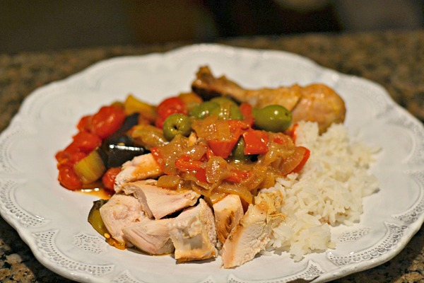 Moroccan Chicken with Green Olives and Lemon