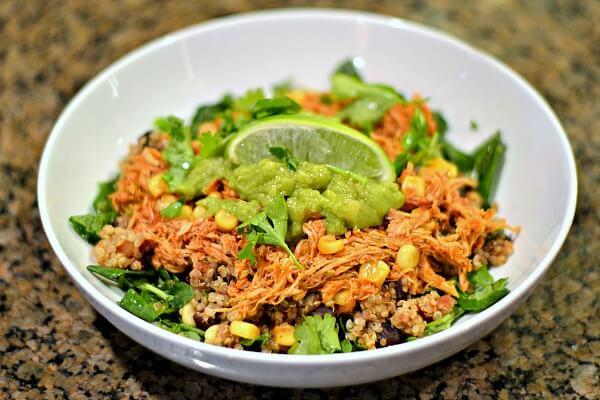 Mexican Quinoa and Salsa Chicken Bowl