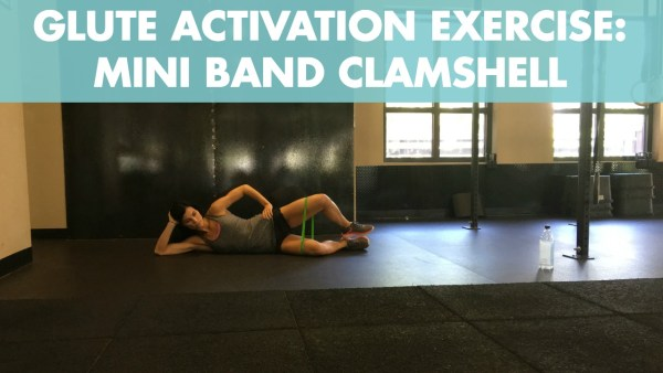 Mini Band Clamshell for Glute Activation