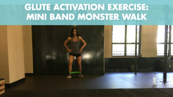 Mini Band Monster Walk for Glute Activation