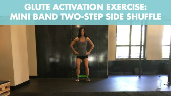 Mini Band Side Shuffle for Glute Activation