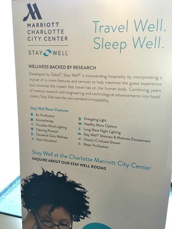 Charlotte Marriott City Center Stay Well Room