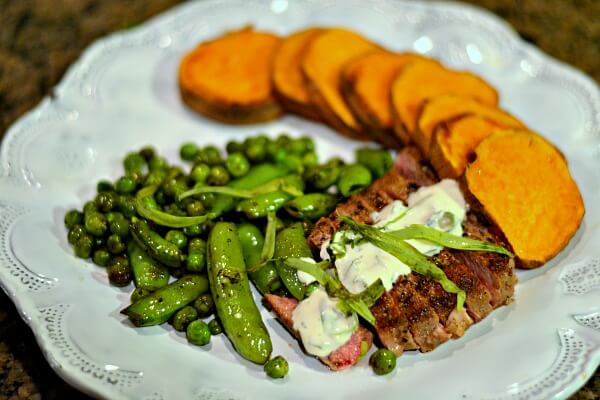 Blue Apron steak dinner
