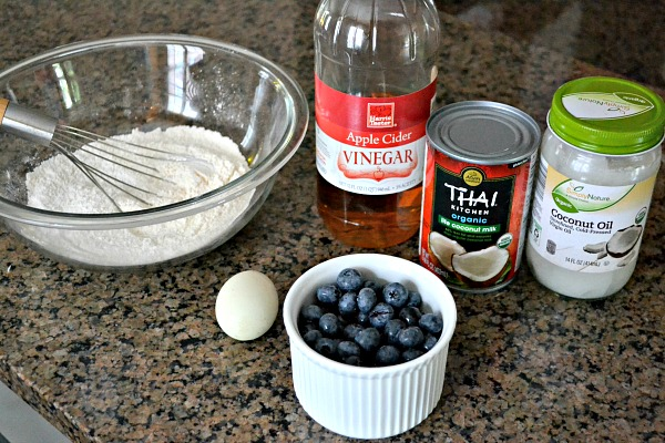 Dairy-Free Blueberry Buttermilk Pancakes Ingrdients