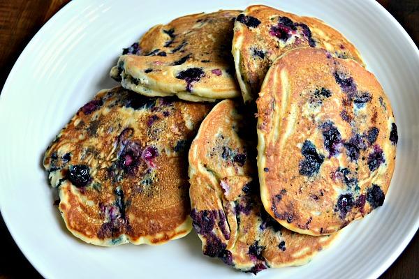 Dairy-Free Blueberry Buttermilk Pancakes