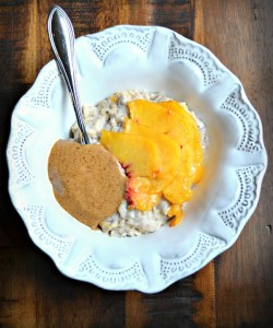 Peaches & Cream Egg White Oatmeal