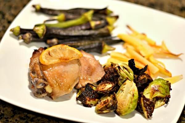 Wedding Chicken with roasted veggies