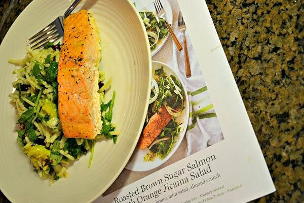 Roasted Brown Sugar Salmon with Orange Jicama Salad