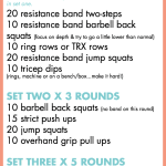 Barbell + Resistance Band Workout for the Booty and the Whole Body!