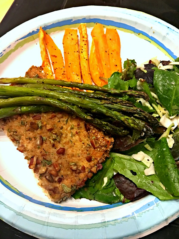 Panko and Pecan Crusted Salmon