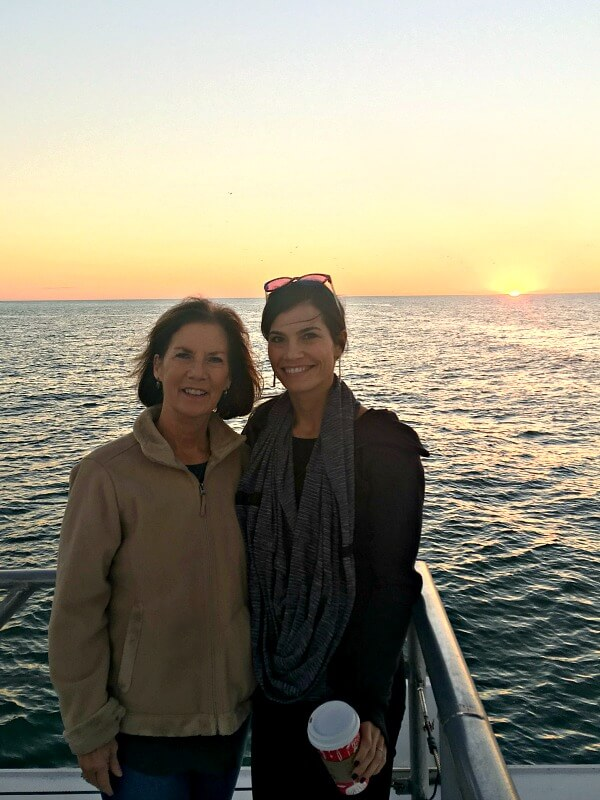 sunset with mom