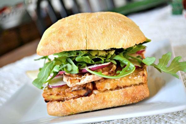 Tofu Banh Mi Sandwich with Kimchi Mayo