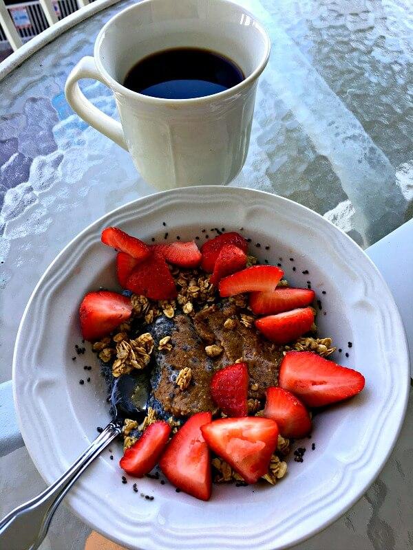 chia pudding and coffee
