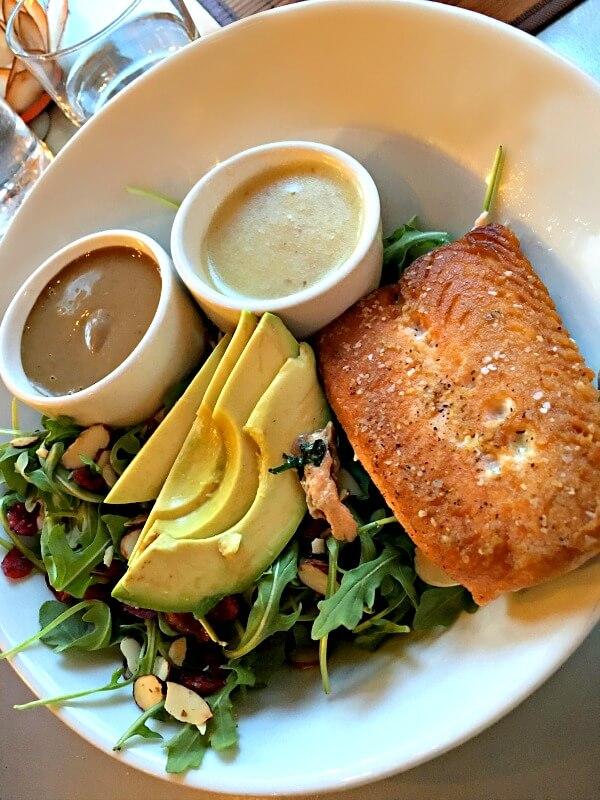 Harvest salad with salmon at Namastay Kitchen