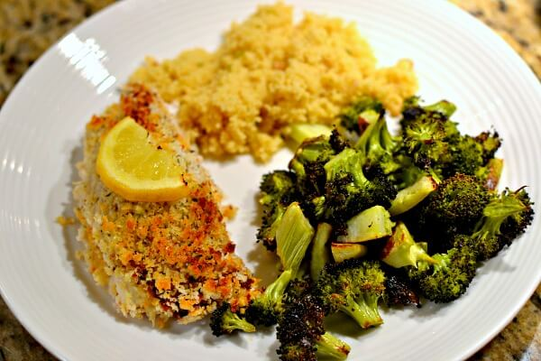 Panko crusted red snapper
