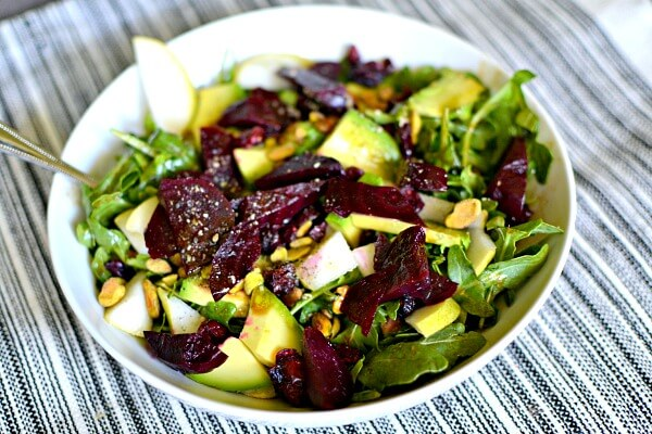 beet and pear salad