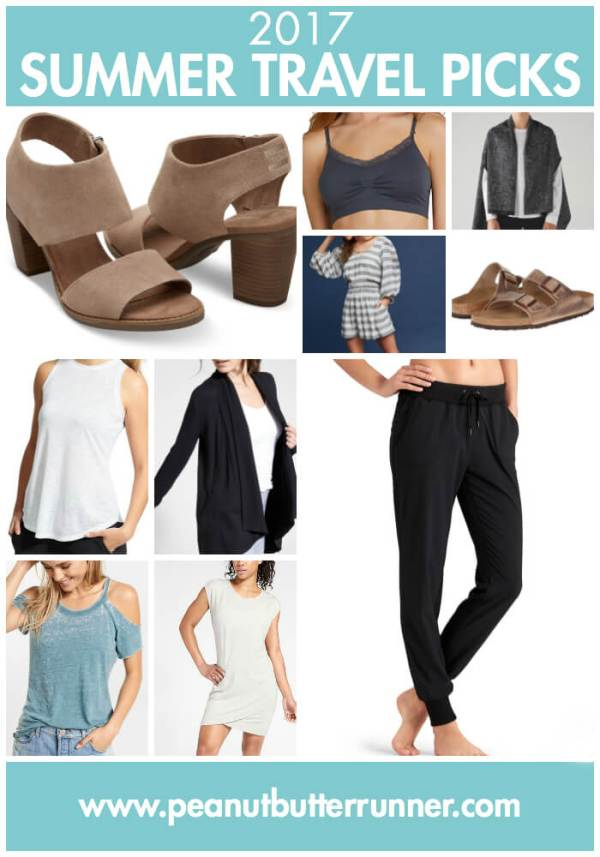 A collection of 10 fashion picks for comfortable and functional summer travel to Europe.